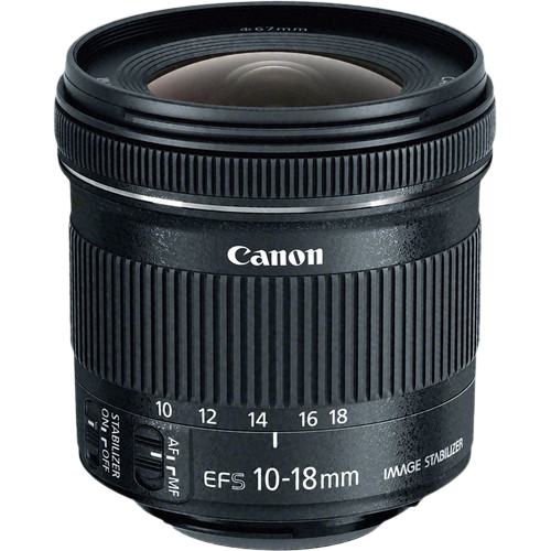 9519B005AA - Canon EF-S 10-18mm f/4.5-5.6 IS STM Lens