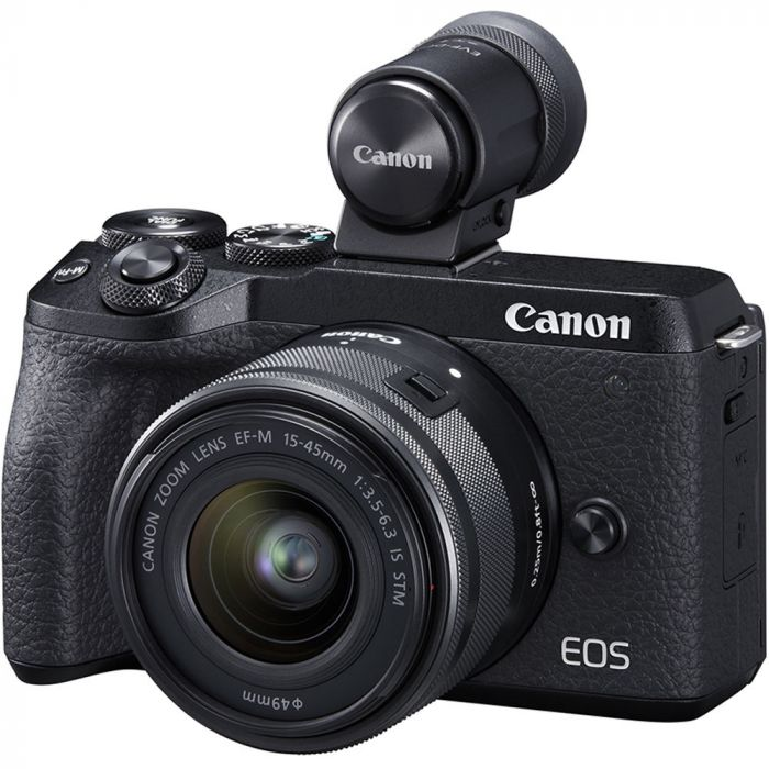 3611C091AA - Canon EOS M6 Mkii 15-45 and EVF-DC2 KIT
