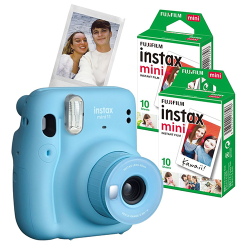 16655156COMBO1 - Fuji Instax Mini 11 Sky Blue 2 Film Bundle