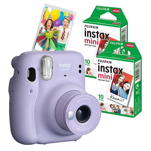 16655194COMBO1 - Fuji Instax Mini 11 Lilac Purple 2 Film Bundle