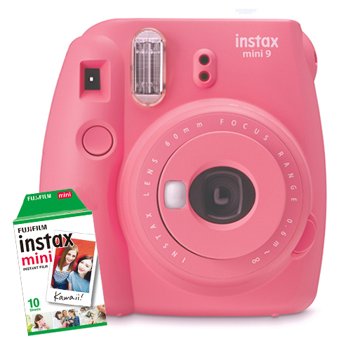 16550538COMBO1 - Fuji Instax Mini 9 Flamingo Pink 1 Film Bundle