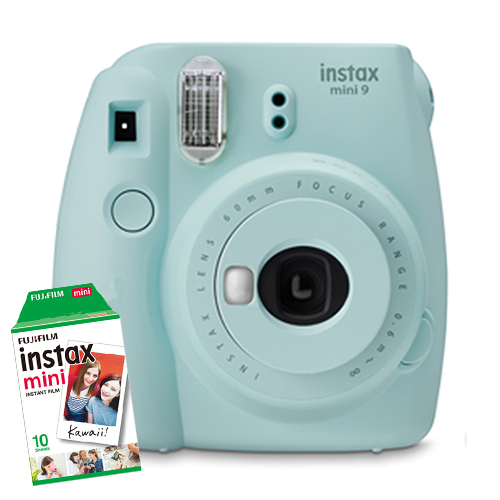 Fuji Instax Mini 9 Ice Blue 1 Film Bundle