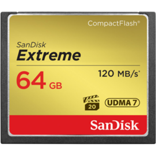 PT114600 - Sandisk 64GB Extreme Compact Flash
