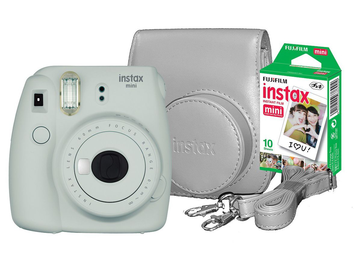 INSTAX  MINI 9 SMOKEY WHITE - Fujifilm Instax mini 9 Smokey white bundle